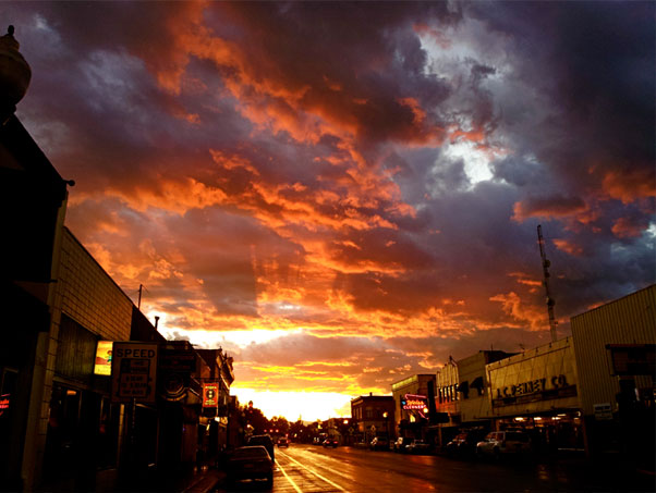 Main Street Sunset by David Lipka