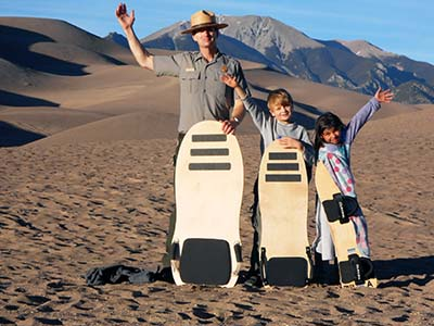Great Sand Dunes ranger kids
