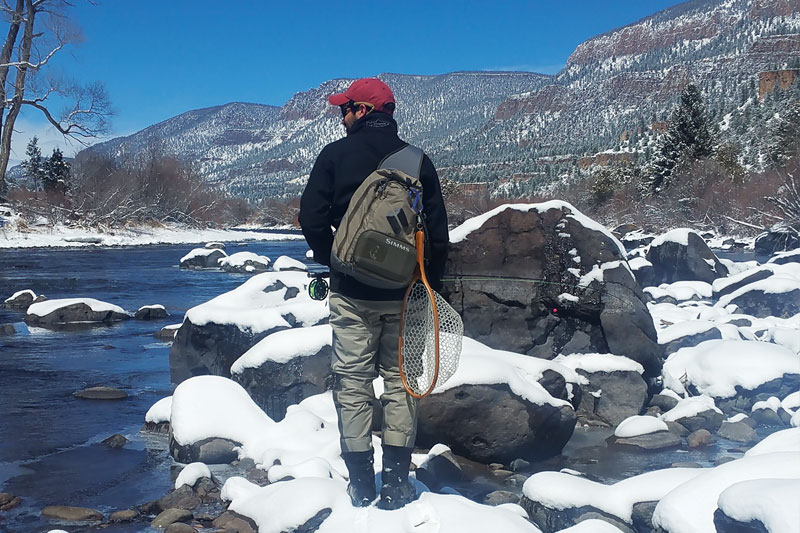 Flyfisherman Winter