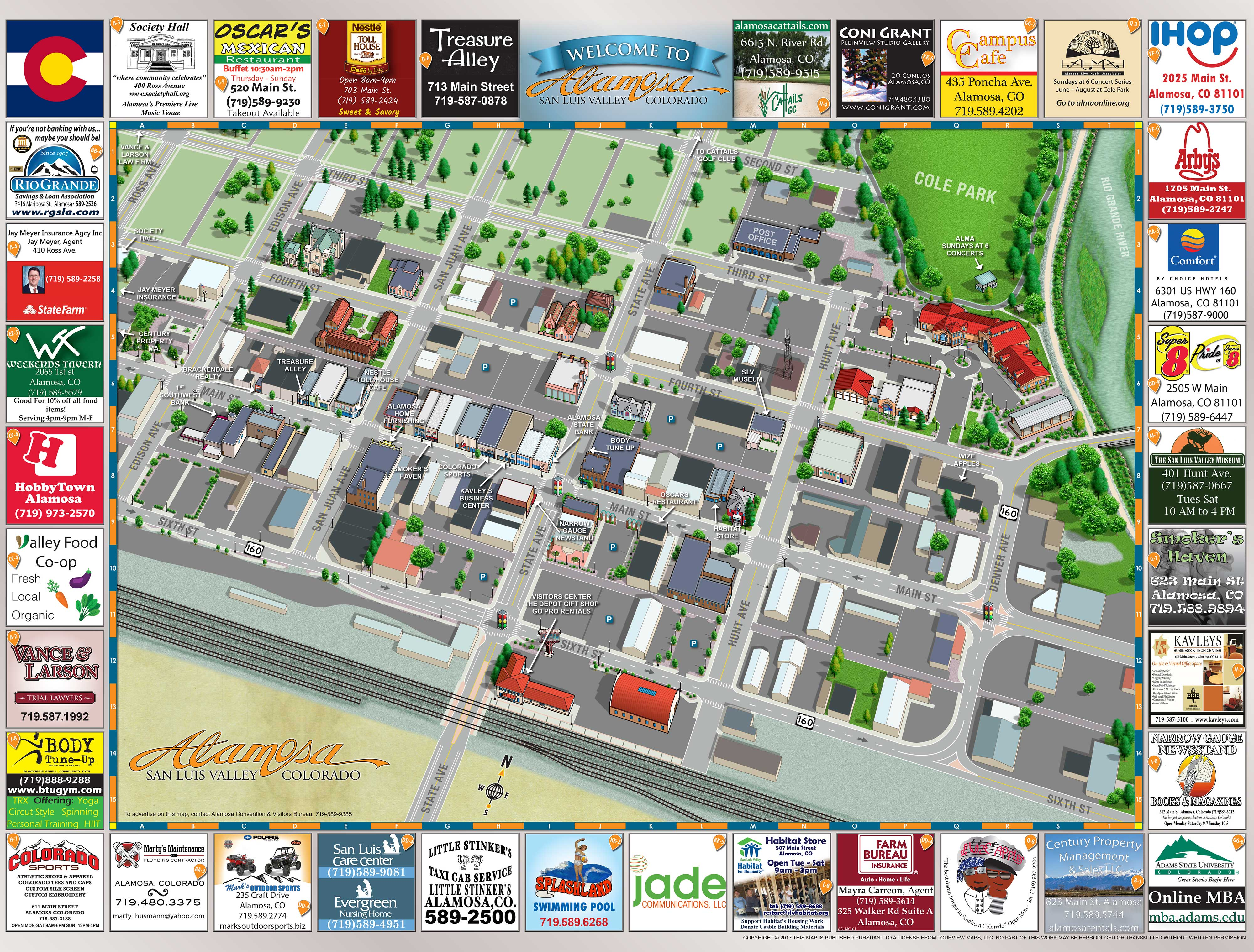 alamosa colorado 3d city map 01