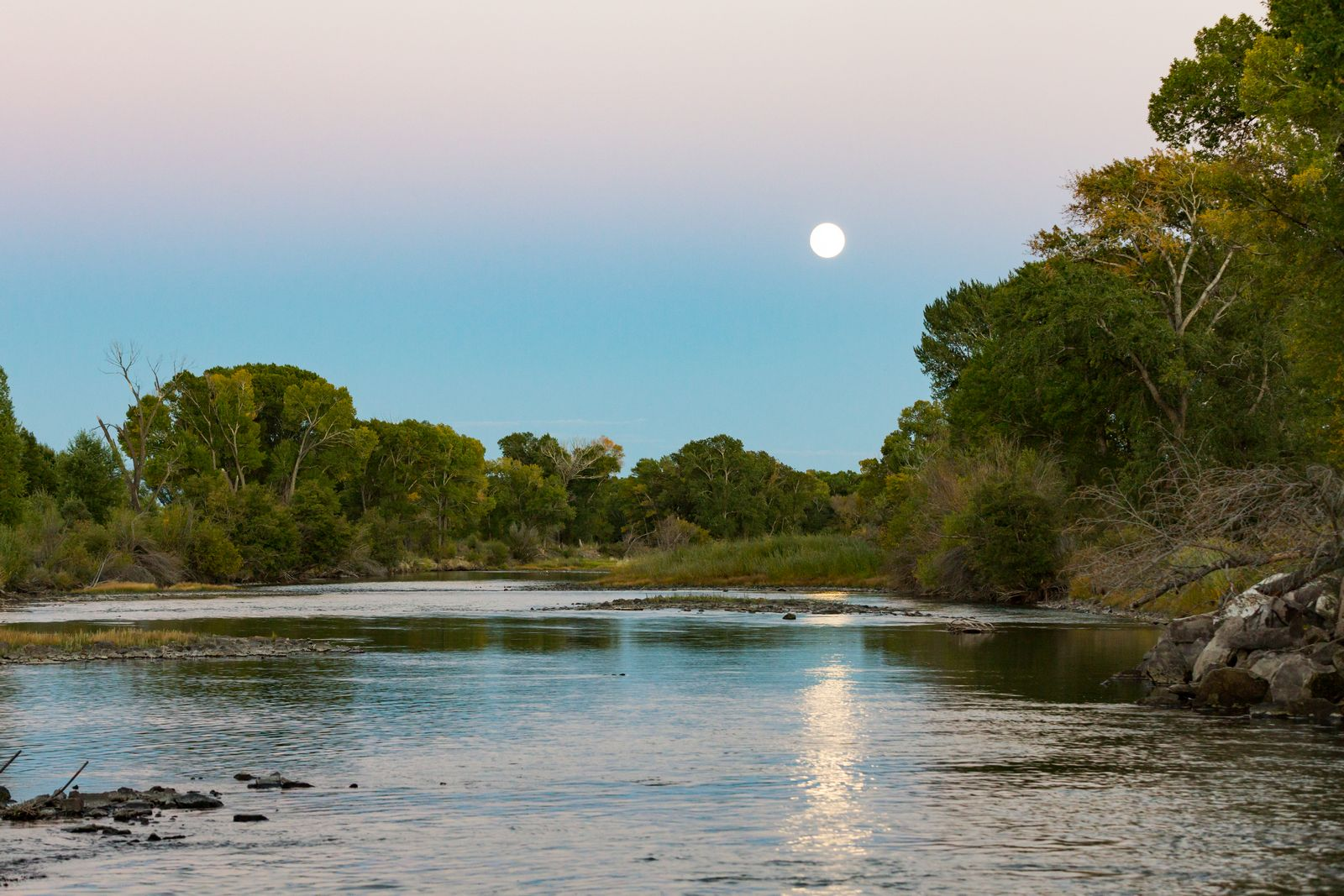 alamosa san luis valley moonrise sunset rio grande 2