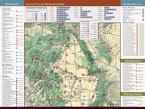 San Luis Valley Recreatiion Map